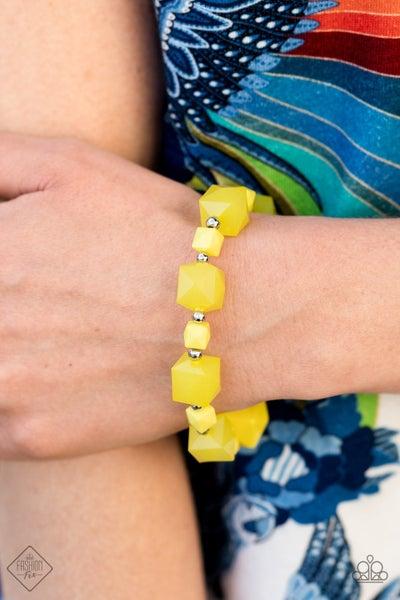 Trendsetting Tourist Yellow Bracelet - Fashion Fix