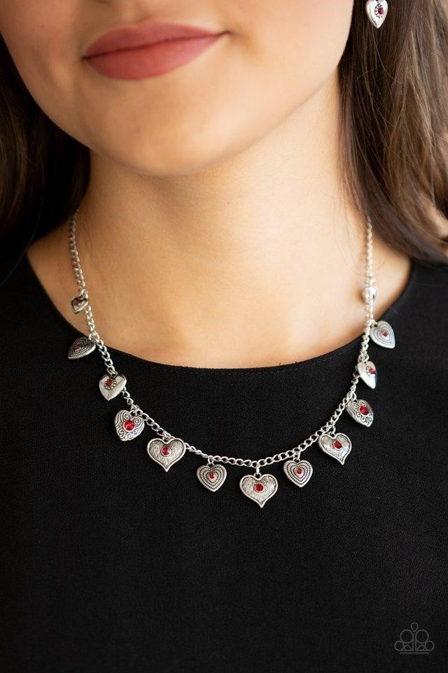 Lovely Lockets Red Necklace