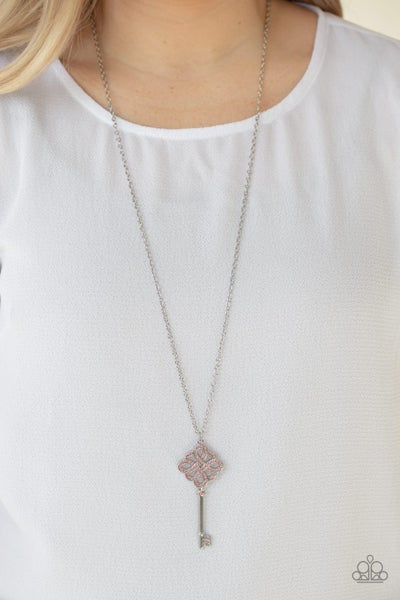 Unlocked Pink Necklace - Sparkle with Suzanna