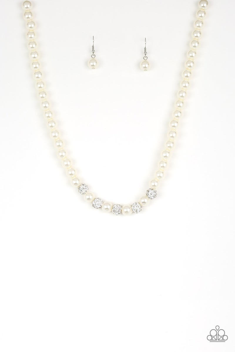 Posh Boss White Pearl Necklace