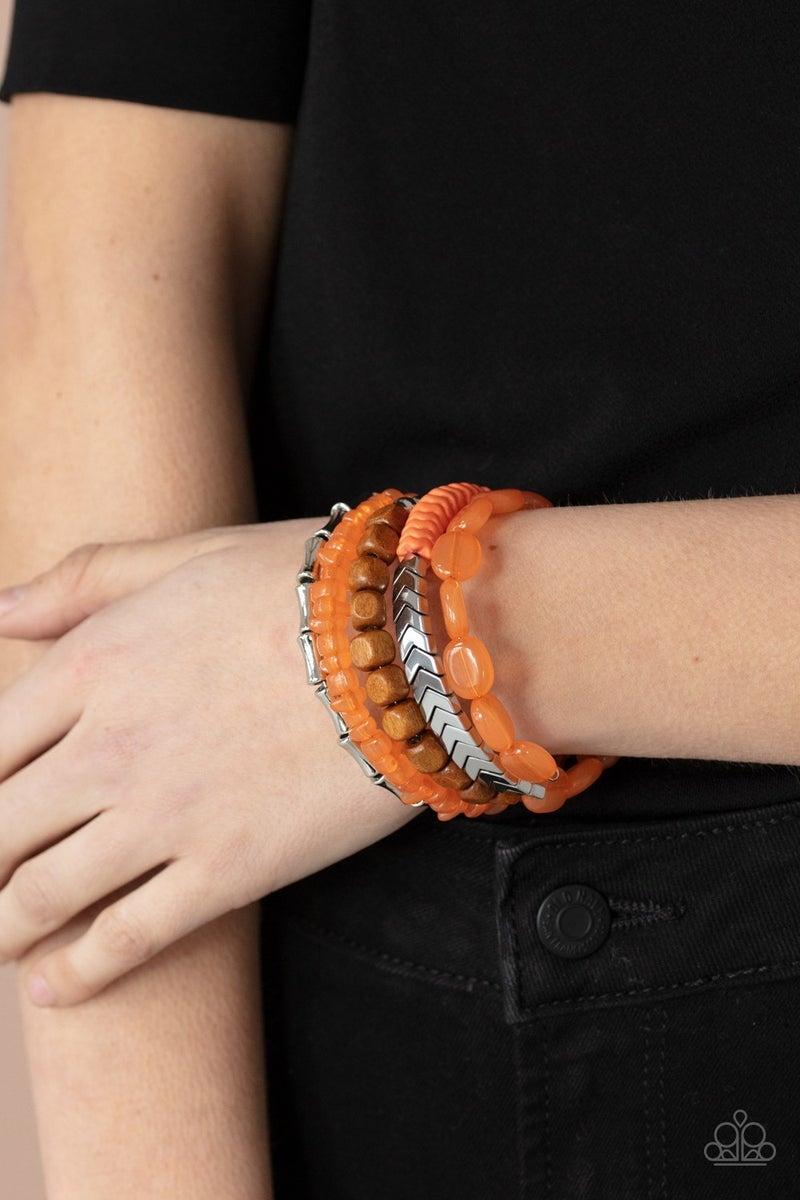 Outdoor Retreat Orange Bracelet