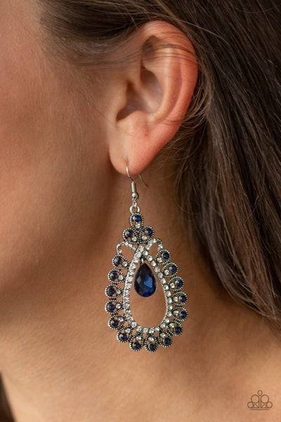 All About Business Blue Earring