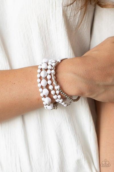 Vibrantly  Vintage White Bracelet