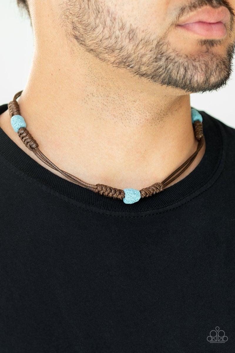 Volcanic Vegabond Blue Urban Men's Necklace