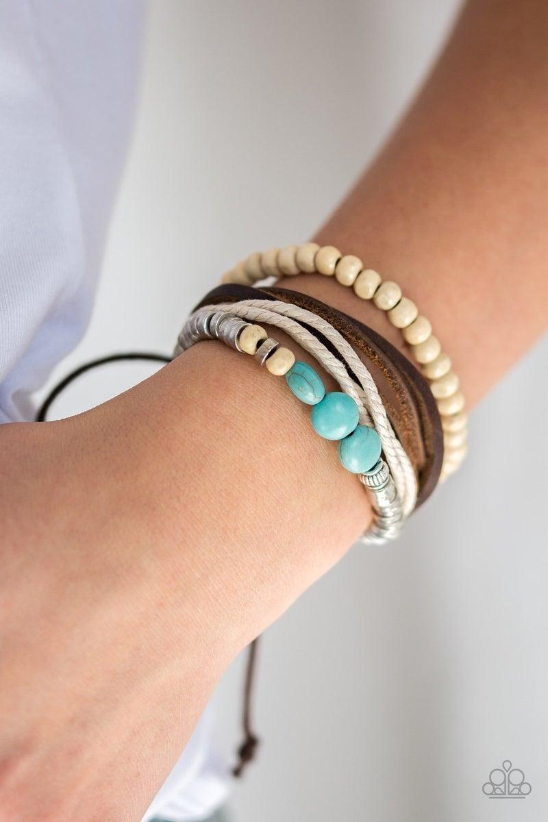 Wonderfully Wanderer  Blue Urban Bracelet - Sparkle with Suzanna