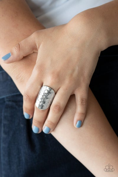 Retro Ripple Silver Ring