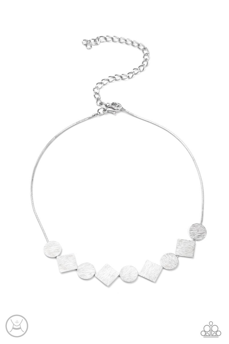 Don't Get Bent Out Of Shape Silver Necklace