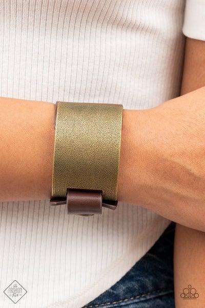 Studded Synchronism Brass Bracelet - PREORDER August FF