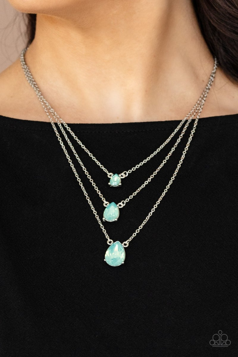 Dewy Drizzle Green Necklace - PREORDER