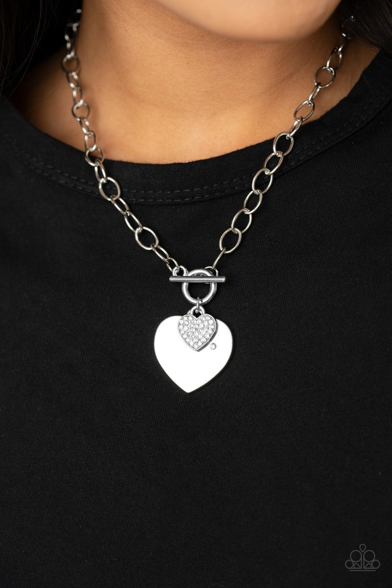 Heart-Stopping Sparkle White Necklace