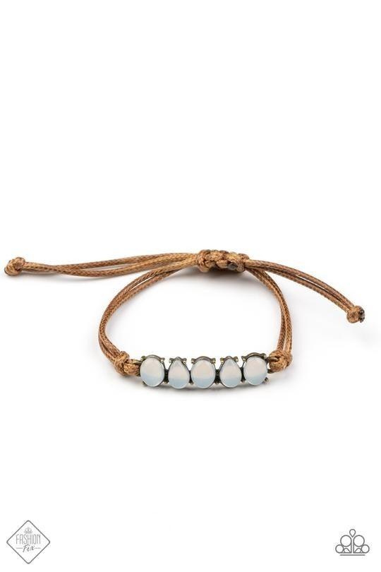 Opal Paradise Brass Bracelet