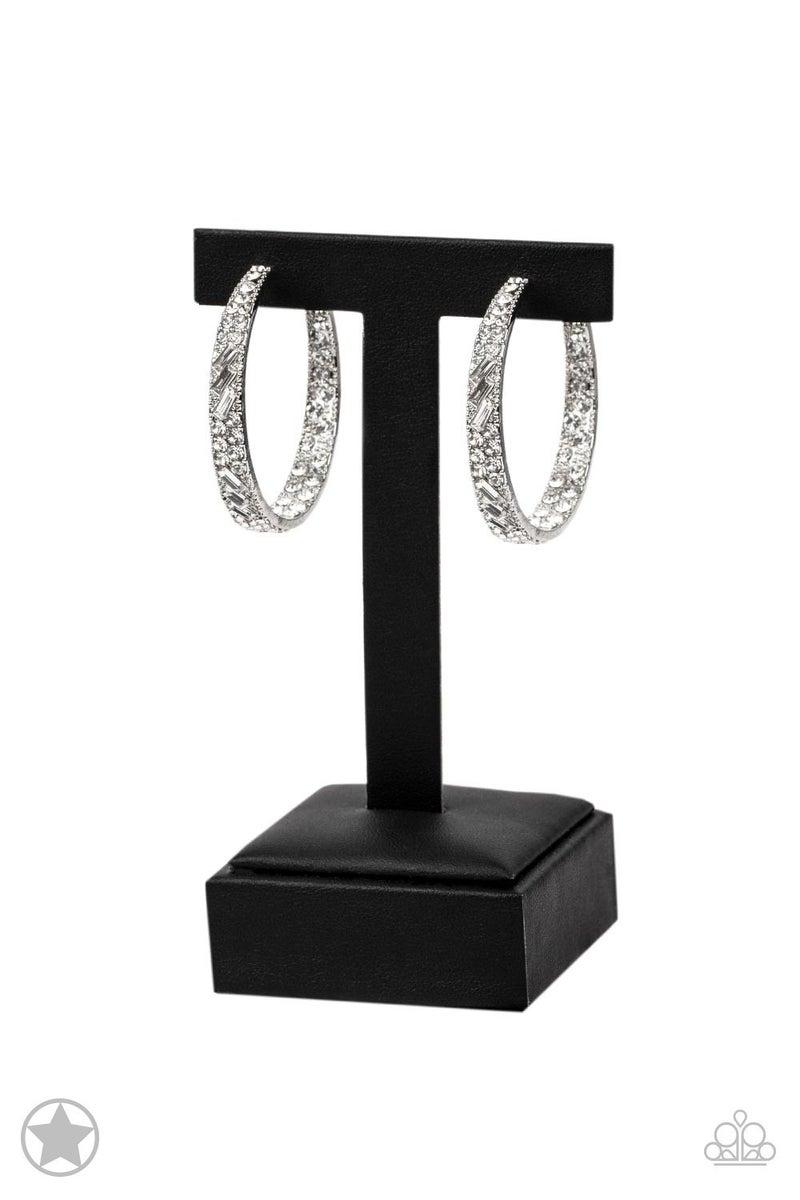 GLITZY By Association Silver Hoop Earring