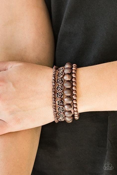 Rose Garden Gala Copper Bracelet