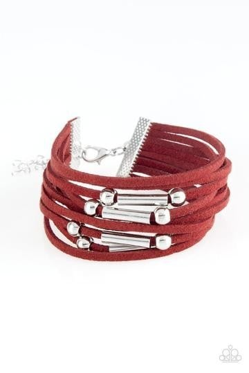 Back to Backpacker Red Urban Bracelet