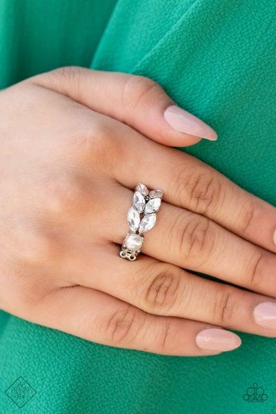 Majestically Musing White Ring -  Fashion Fix