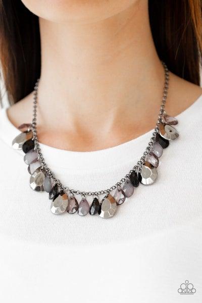 Hurricane Season Black Necklace