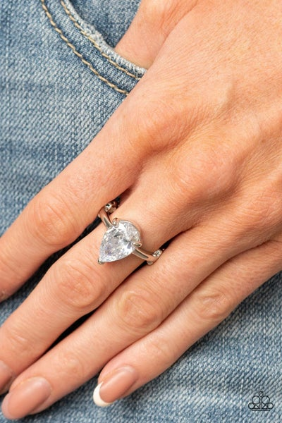 Vintage Engagement White Ring