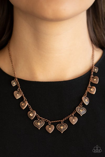 Lovely Lockets Copper Necklace