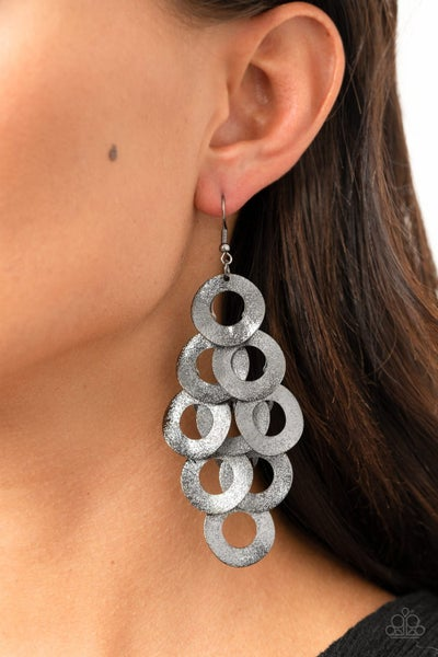 Scattered Shimmer Black Earring