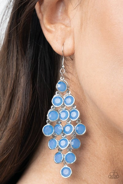 With All Dew Respect Blue Earring - Sold Out!