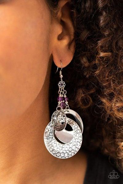 Wanderlust Garden Purple Earring