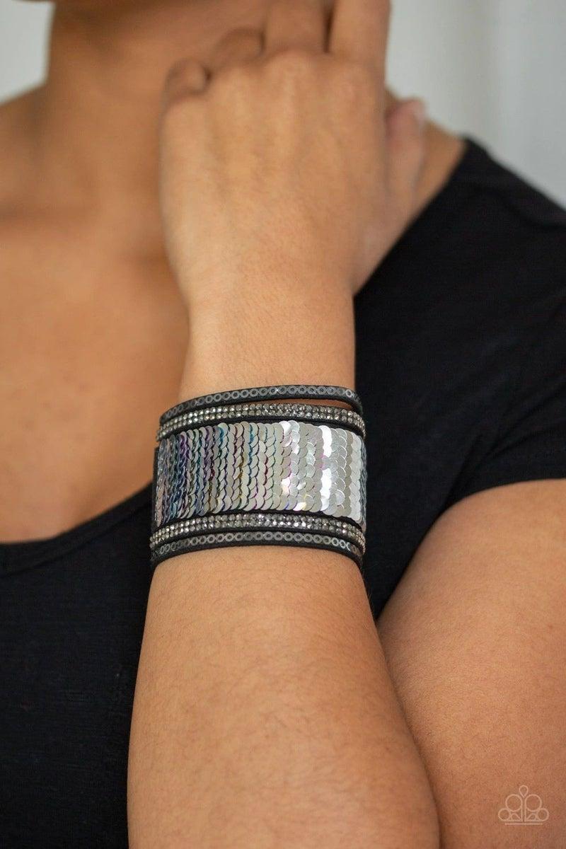 Heads or Mermaid TAILS Blue/Silver Bracelet
