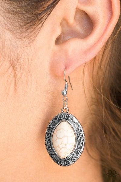 Desert Harvest White Earring