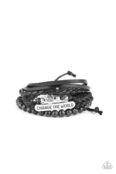 Change The World Black Urban Bracelet
