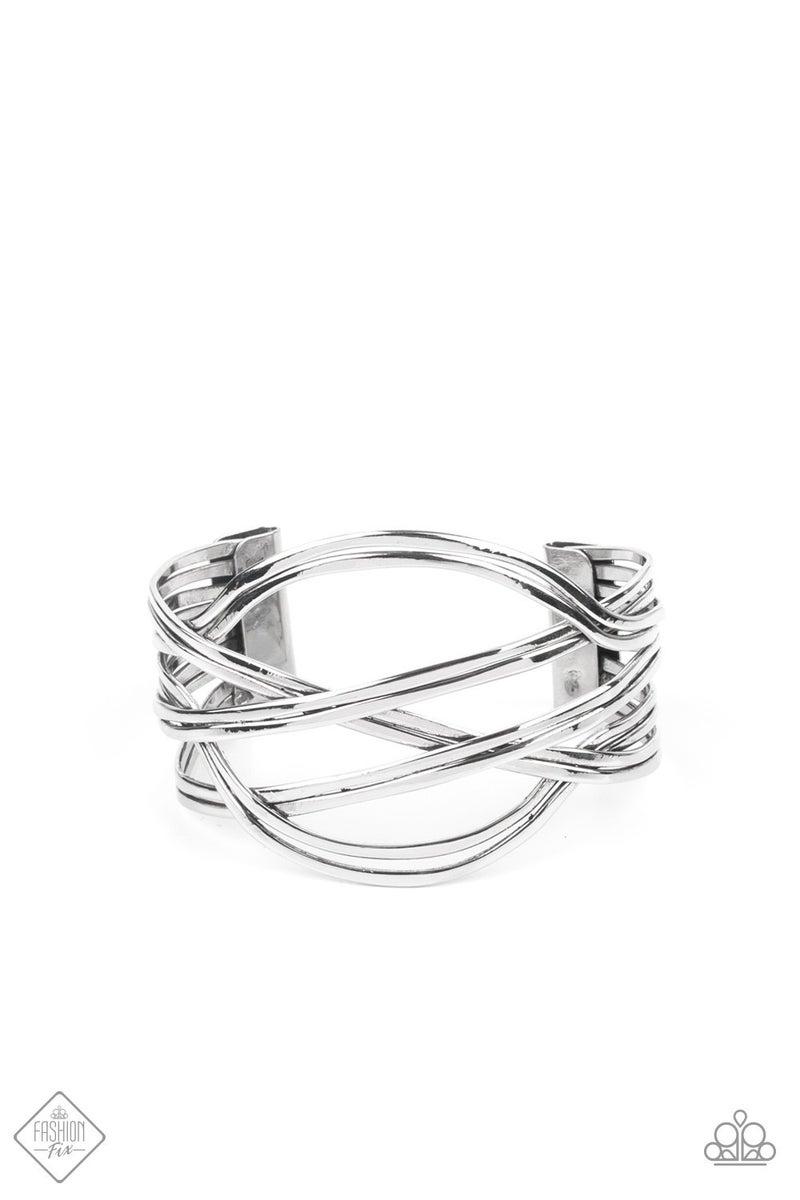 Hautely Hammered Silver Bracelet - Fashion Fix