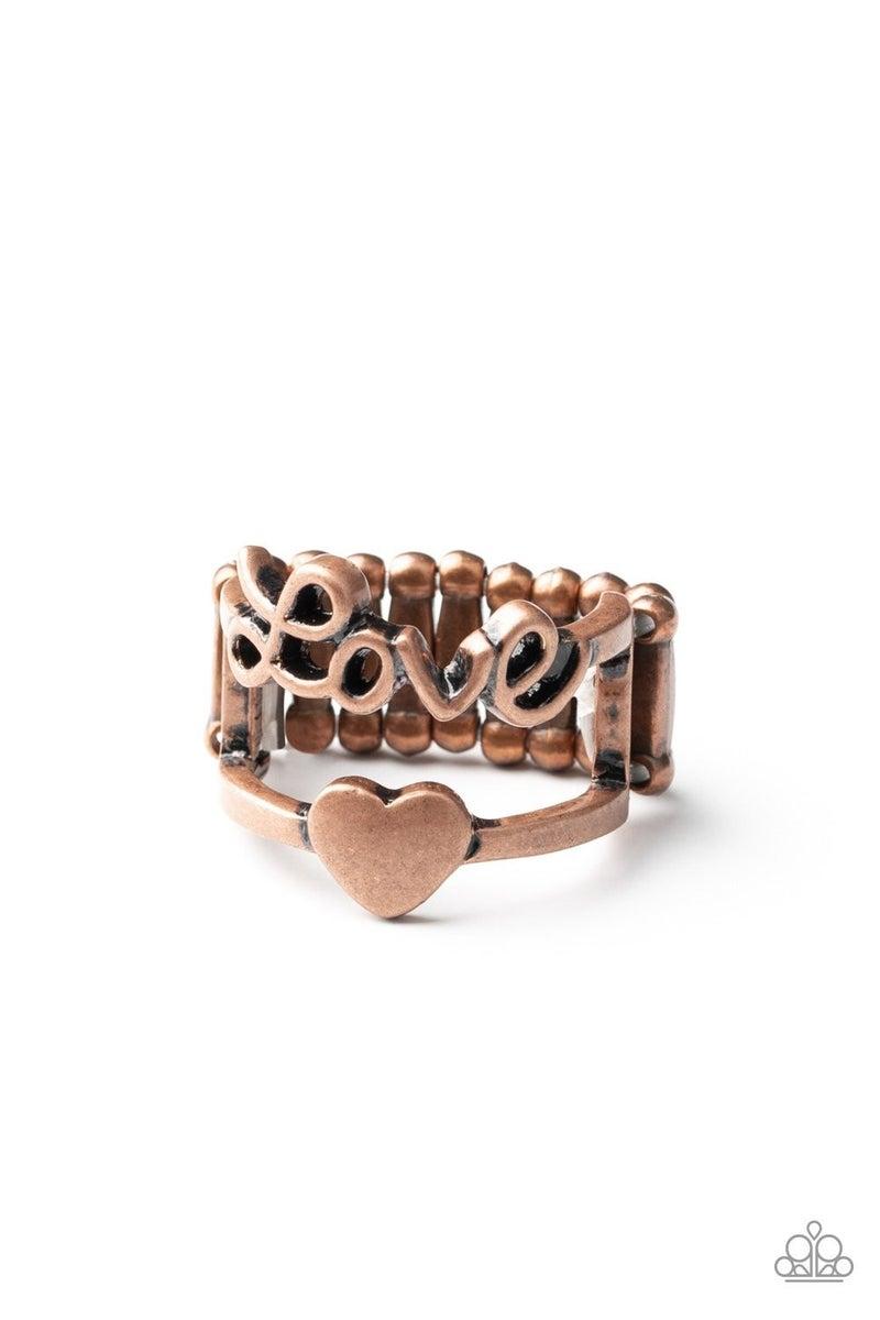 Heart String Harmony Copper Ring
