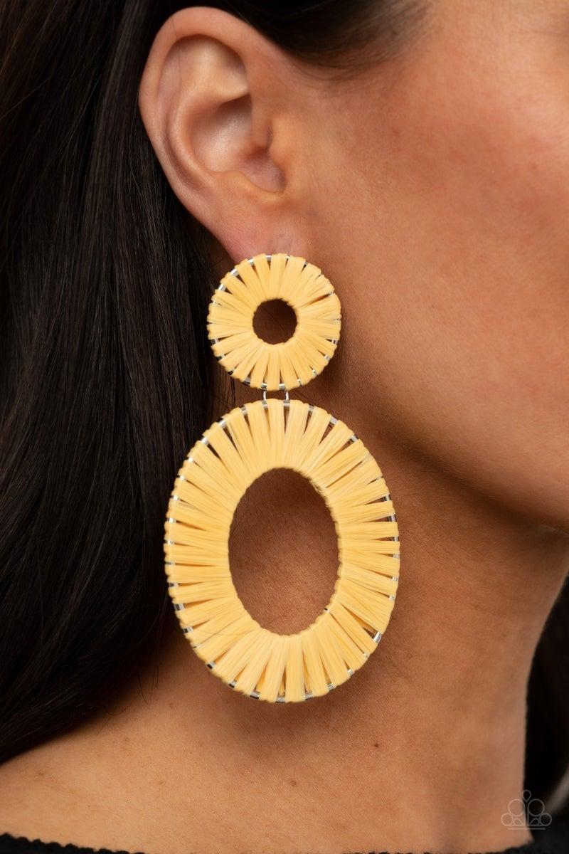 Foxy Flamenco Yellow Post Earring