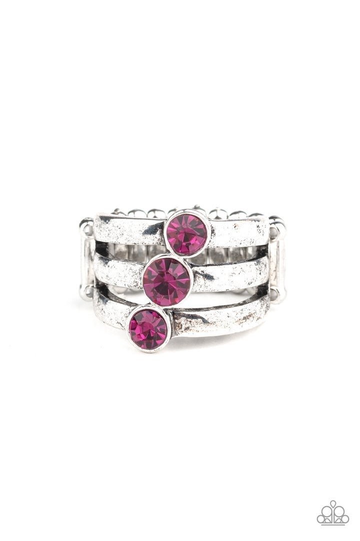 Triple The Twinkle Pink Ring