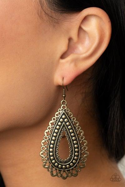 Texture Garden Brass Earring
