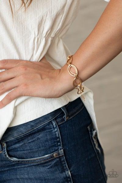 Simplistic Shimmer Gold Bracelet