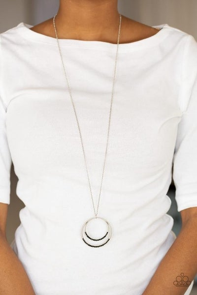 Font and Epicenter Black Necklace - Sparkle with Suzanna