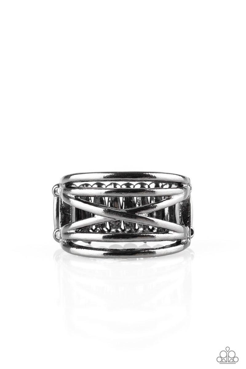 Way Wayward Gunmetal Ring