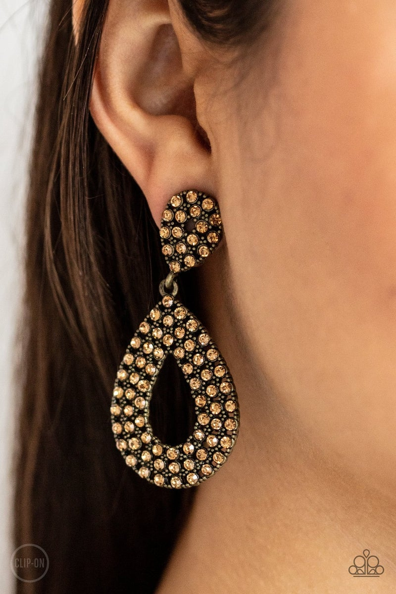 Pack In The Pizzazz Brass Clip-On Earring - PREORDER