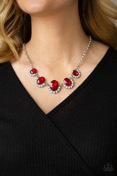 The QUEEN Demands It Red Necklace - PRECLAIM