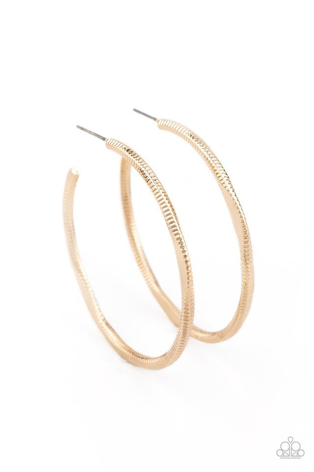 Spitfire Gold Hoop Earring - Sparkle with Suzanna
