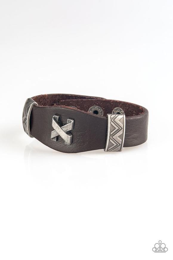 Tread Carefully Brown Urban Bracelet