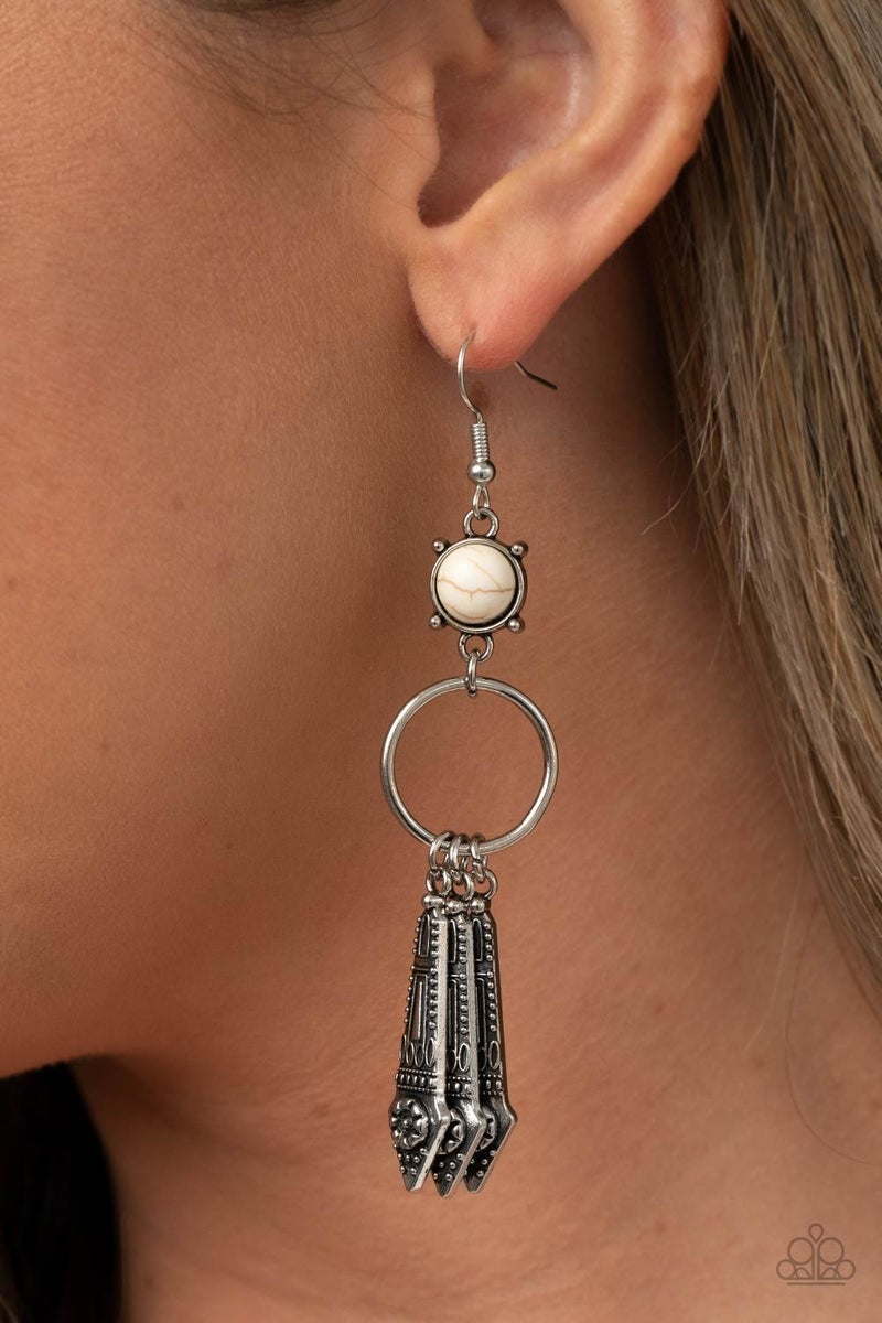 Prana Paradise - White Earring