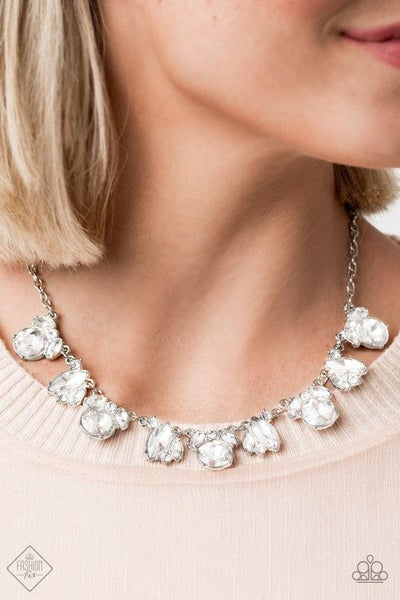BLING to Attention White Necklace