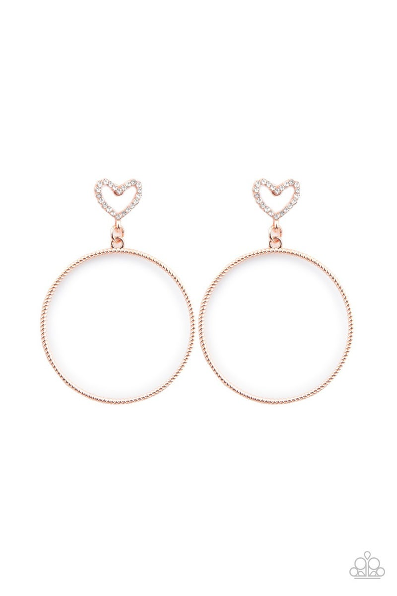 Love Your Curves Copper Post Earring