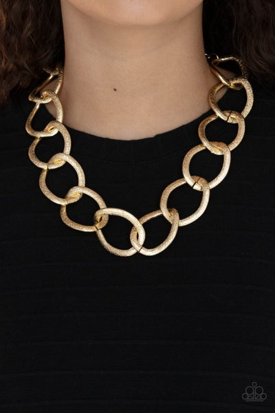Industrial Intimidation Gold Necklace