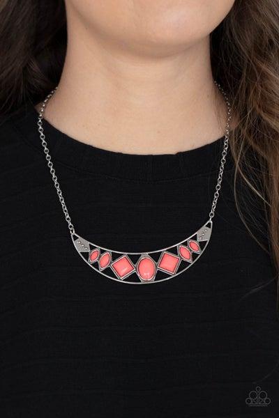 Emblazoned Era Pink Necklace