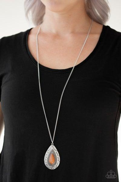 Sedona Solstice Orange Necklace