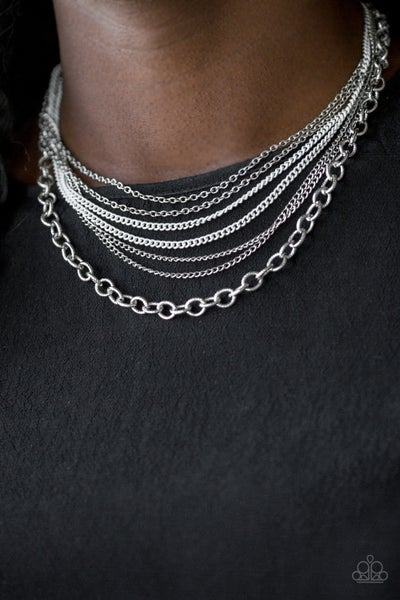Intensely Industrial White Necklace