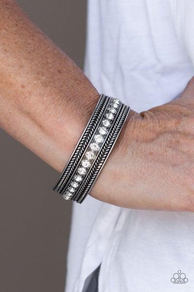 Empress Etiquette White Bracelet - Sparkle with Suzanna