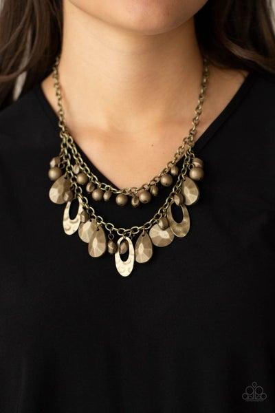 Extra Exhilarating Brass Necklace