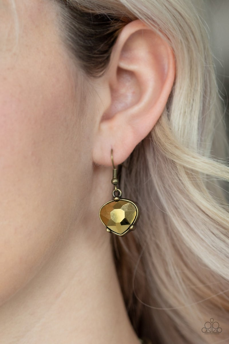 Star Quality Sparkle Brass Necklace